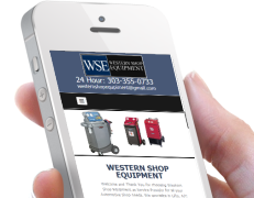 Shop equipment Repair Web Design